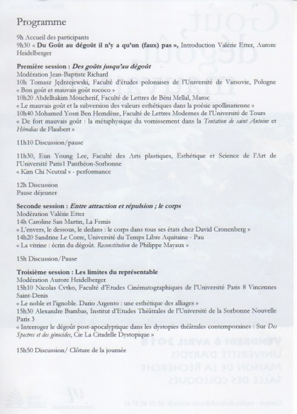 programme_université d'Artois