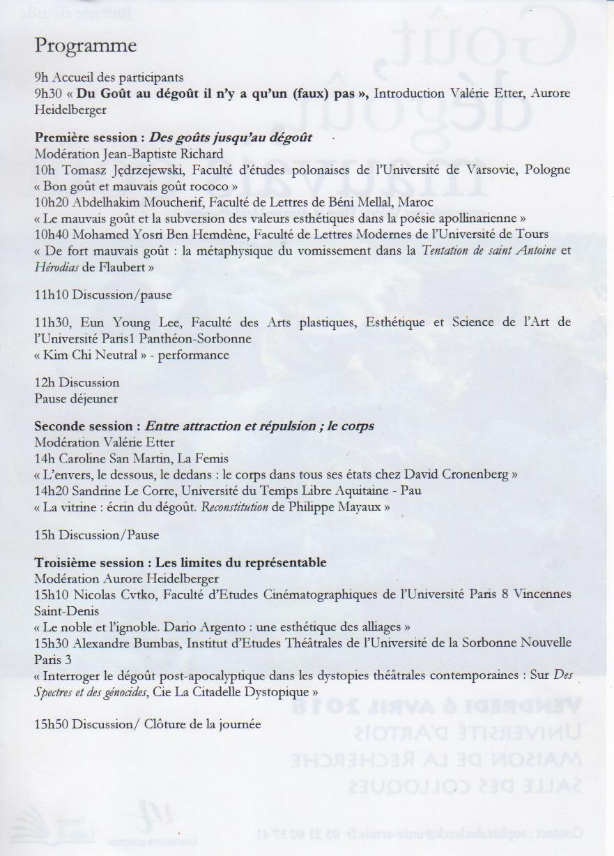 programme_université d'Artois